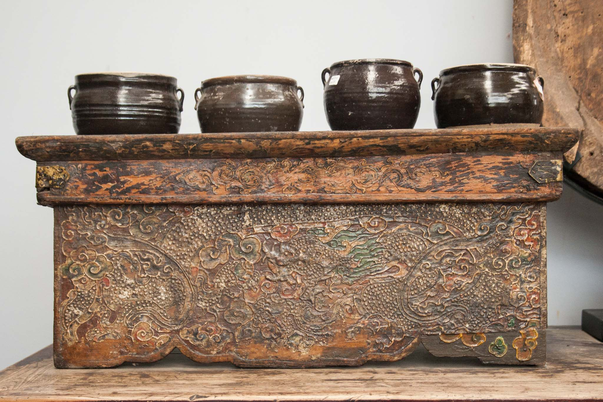 Antique Tibetan folding table